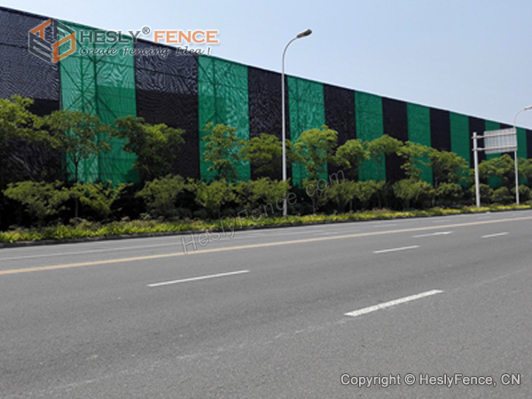 Wind Fence for Stockpile Area