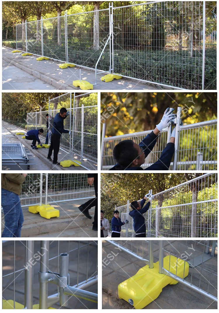 Temporary Fence Panels with yellow feet